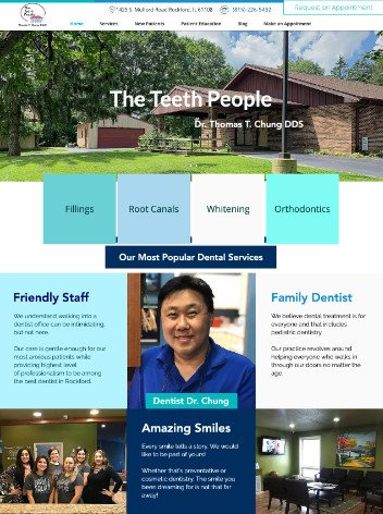 Dental website design by iSeed Digital