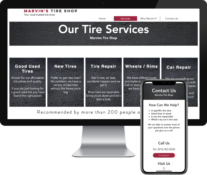 Automotive website design by iSeed Digital in Rockford, IL