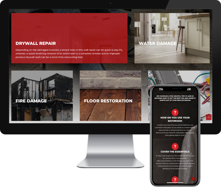 Contractor website design - iSeed Digital - Web Designer
