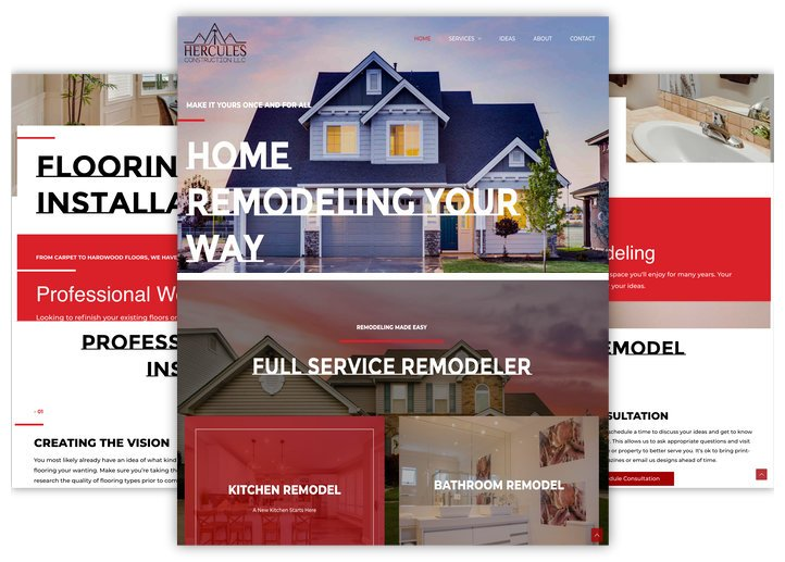Home remodeling contractor website design by iSeed Digital