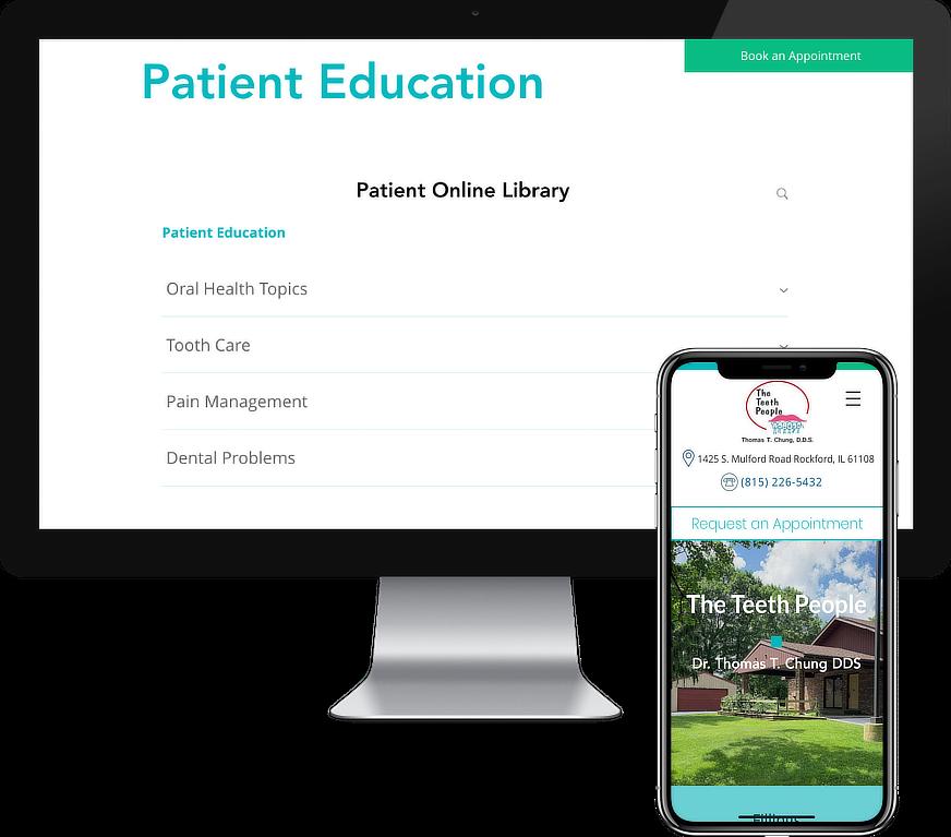 The Teeth People Dental Website Design Project by iSeed Digital