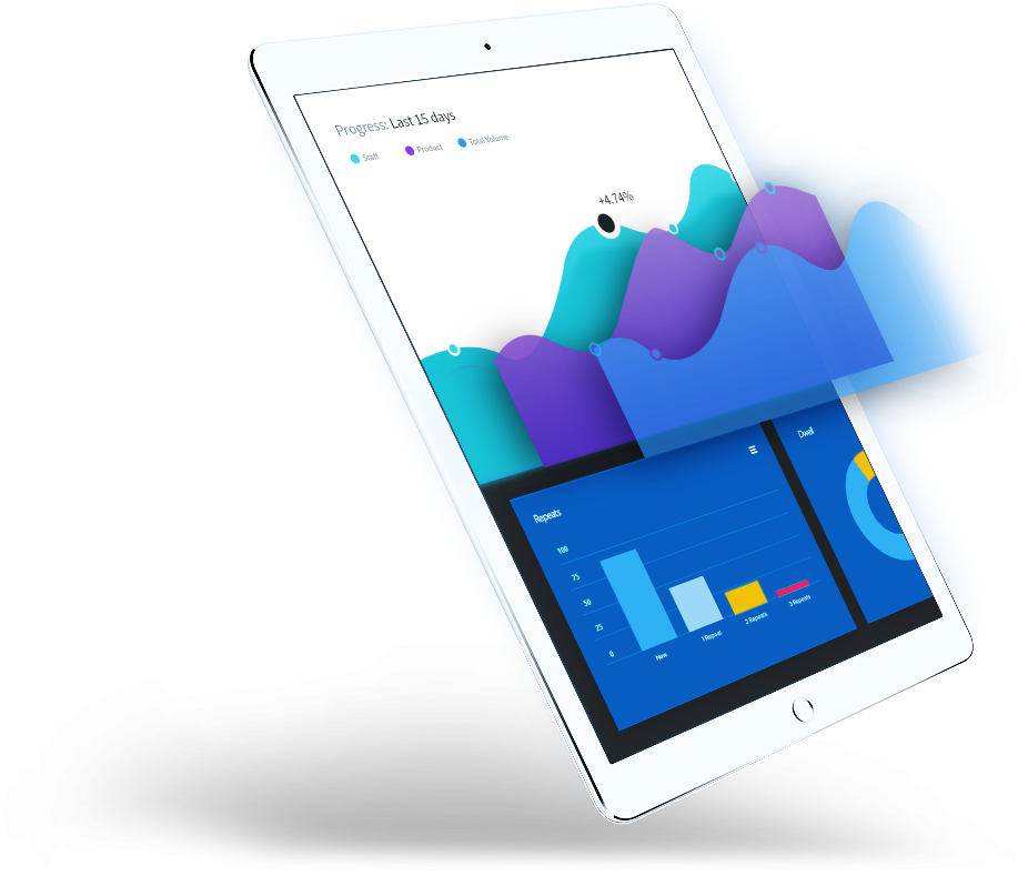 SEO services using analytics on tablet